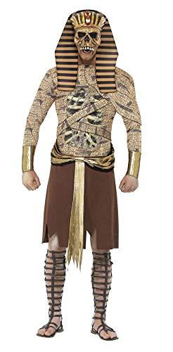 shoperama Herren Kostüm Ägyptischer Zombie Pharao König Ägypter Halloween Verkleidung Totengott, Größe:L