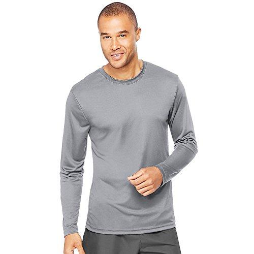 Cool DRI Performance Herren Langarm T-Shirt_Graphite_S (Langarm-shirt Graphit)