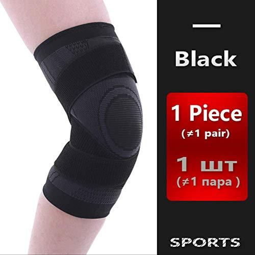 RTGFS Knie Unterstützung Professionelle Schutz Sport Knie Pad Atmungsaktive Bandage Knieorthese Basketball Tennis Radfahren XXL Schwarz (Für Xxl Knieorthese Arthritis)