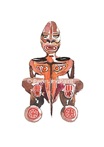 Etho Kunstdruck Afrikanische Maske - Afrikanische Kunst, Gemälde, Afrikanische Deko -