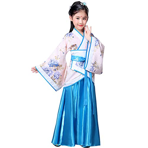 Kostüm China Mädchen - Huatime Chinesisch Festival Feiern Kostüm - Mädchen Aicent China Hanfu Show Bühne Aufführungen Cosplay Party Theater National Kostüme