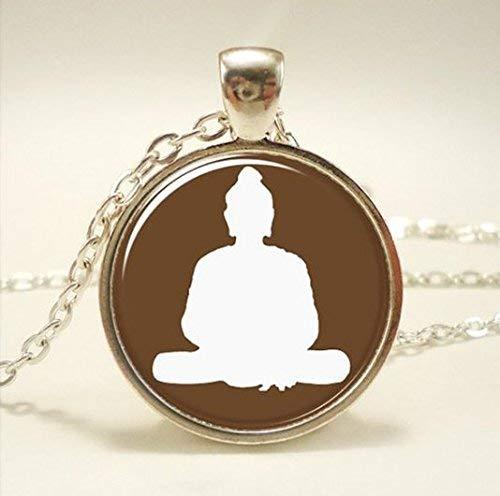 Buddha Halskette, Yoga Schmuck, spirituelle Zen Charm