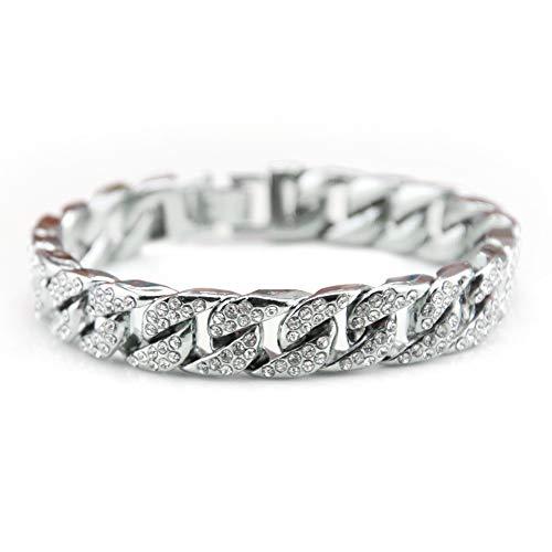 UINGKID-Serie Armband Kreative Stilvolle Charm Charming Armreif Schmuck ZubehörHip Hop Herren Armband Serie Strass Armband Kette Bling Kristall Armband (Strass-perlen-armband-uhren)