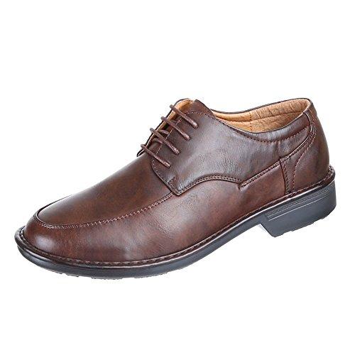 Chaussures pour Homme Aspect usé, jzh915, Business Chaussures de lacets Marron - Marron