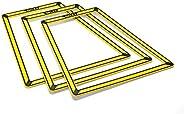 SKLZ Pro – eenvoudige trapeziumtrainer. Set van 10, geel-zwart, één maat