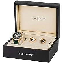 Thomas Earnshaw Armagh - Reloj de pulsera automático con caja de regalo para hombre, color verde / verde