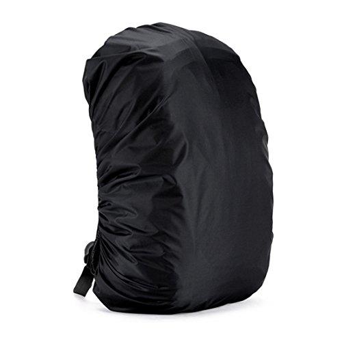 Copertura zaino impermeabile parapioggia copertina zaino copertura custodia di zaino sport coprizaino impermeabile pioggia per campeggio corsa trekking regolabile per zaino 30l-45l (nero)