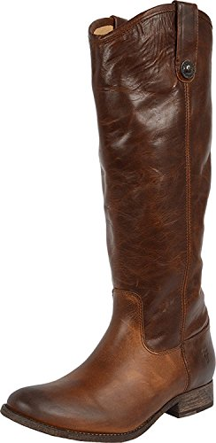 FRYE Women's Melissa Button Boot Extended Dark Brown Extended Calf Boot 6.5 B - Melissa Boot Button Frye