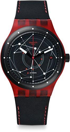 Swatch Orologio Digitale Automatico Uomo con Cinturino in Pelle SUTR400