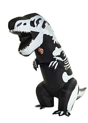 Costume gonfiabile da scheletro di t-rex gigante, taglia unica