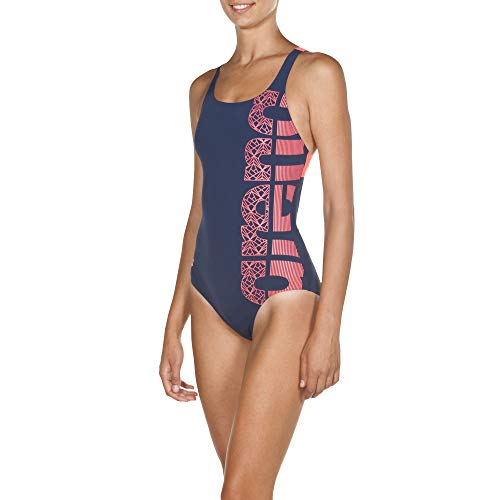 ARES5 Arena Damen Sport Badeanzug Equilibrium Lining, Navy-Shiny pink, 38