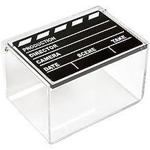 Polaroid caja de almacenamiento de fotos de claqueta de cine acrílica transparente para papel de foto Zink 2x3 (Snap, Zip, Z2300)