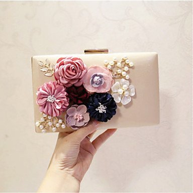 pwne Frauen Abend Tasche Pu All Seasons Event / Party Party & Amp; Abends Club Baguette Blume Magnetische Apricot Rot Rosa Schwarz Weiss Apricot