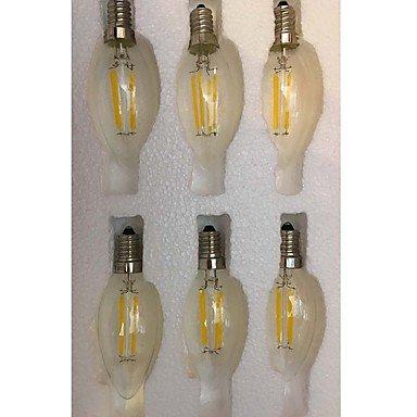 4W E14LED bombillas de filamento CA354COB 400LM Blanco Cálido Blanco Frío (AC 220–240V 12pcs