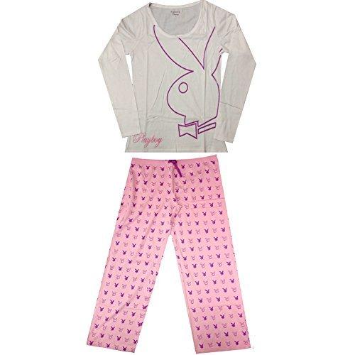 ladies-playboy-pink-white-pyjamas-set-womens-long-sleeved-top-pjs-nightwear-new-large