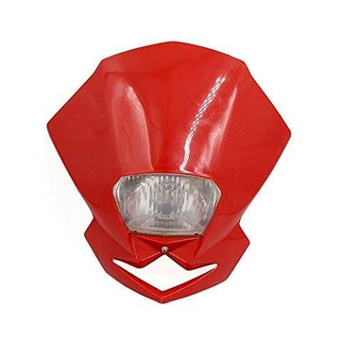 DealMux Universal-rot Fall Motorrad Street Fighter Scheinwerfer Verkleidungs-Licht-Lampe Gelb