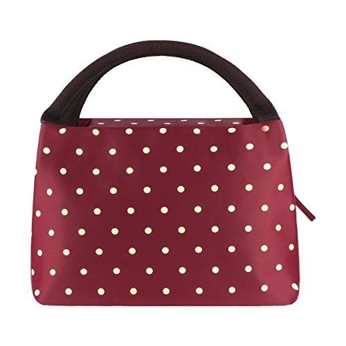 Philorn borsetta porta pranzo termica pranzo borse borsa alimenti lunchbox per scuola e ufficio, vino rosso