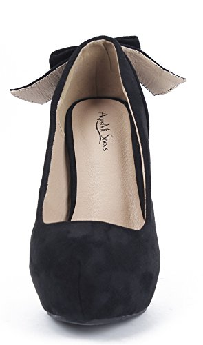 AgeeMi Shoes Damen Rund Schließen Zehe Stilettos High Heels Party Pumps Schwarz