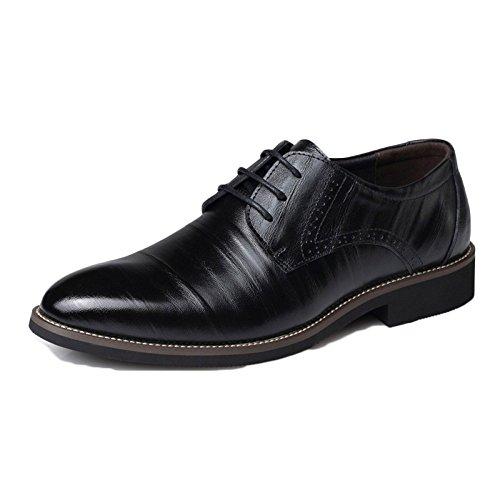 Junge Leder Schuhe Braun Krawatte Formale Weiche Commerce Spring Leder Plus Size Herrenschuhe...