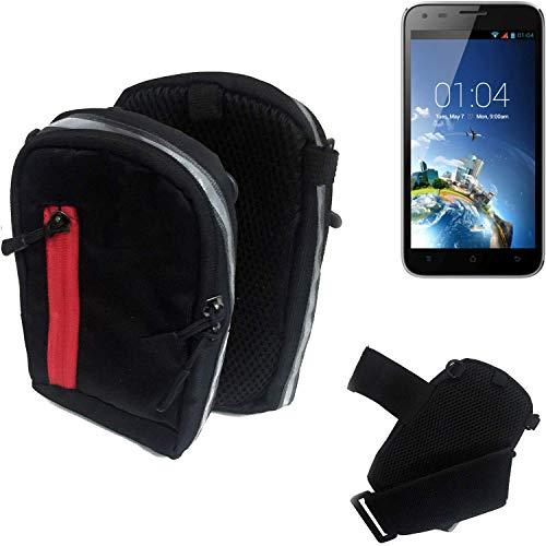 K-S-Trade Outdoor Gürteltasche Umhängetasche für Kazam Trooper X5.0 schwarz Handytasche Case travelbag Schutzhülle Handyhülle