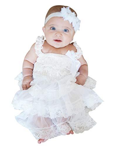 Kostüm Cupcake Bilder - ASKEN Baby Mädchen Rüschen Spitze Cupcakes Kleid Geburtstag Taufe Party Boho Pettidress White XL