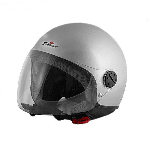 Scotland 100041flash Casco Moto, Grigio, Taglia L