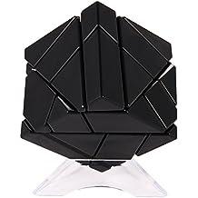 Acefun 3x3 Abnormity Cube Ghost Cube Intelligence Velocidad sin Sticker Magic Cube Puzzles Juguete con 2 juegos de pegatinas (dorado y plateado) + 1 Cube Stand