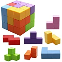 Jhua Juguetes magnéticos Cubos mágicos para niños Bloques de construcción magnéticos Ladrillos de Juguete para Adultos, Alivio del estrés, Puzzles educativos