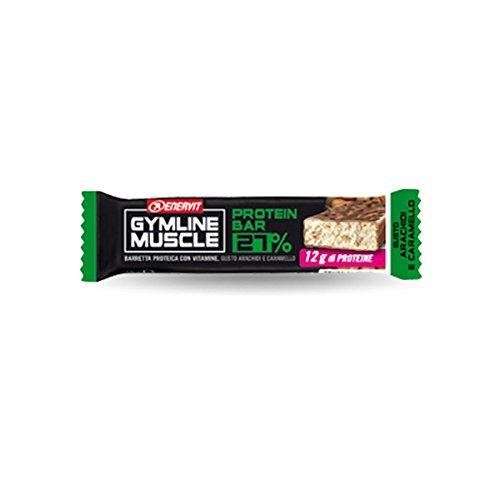 Preisvergleich Produktbild Enervit Gymline Muscle Protein Bar 27% Caramel Erdnüsse und Finger Gluten 45g