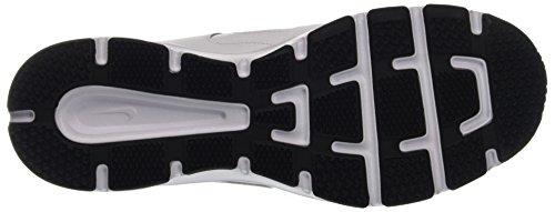Nike Uomo T-lite Xi Scarpe Da Interni Bianco (bianco / Ossidiana-nero-argento Metallizzato 101)