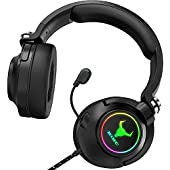 Kikc PS4 Headset, Xbox One Headset with Surround Stereo Gaming Headsets for Soft Memory Earmuffs for