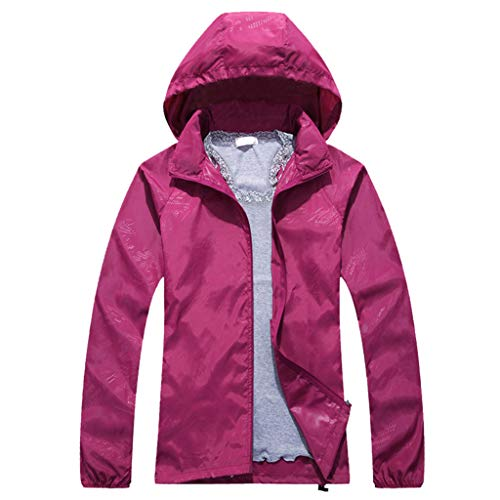 friendGG Damen Herren Warm Wasserdicht Winddicht Atmungsaktiv Solid Sport Outdoor Coat Outwear Jacke Stehkragen Bergsteigen Winter Sweatshirt Pullover Bluse Oberteile Tops Schnell Trocknend Mantel