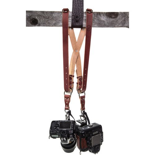 Get HoldFast Gear Money Maker Two-Camera Harness (Water Buffalo, Burgundy, Medium Size)