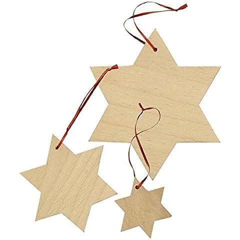 Stelle pensili in legno (Set da