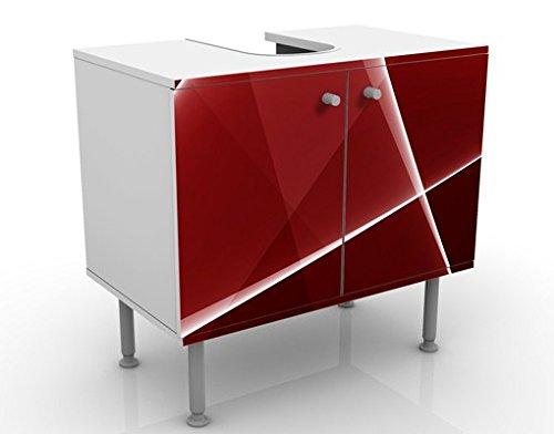 Apalis 54208 Waschbeckenunterschrank Red Reflection, 60 x 55 x 35 cm - 8