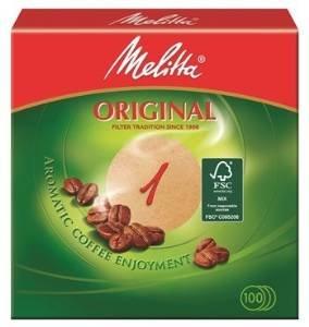 1500 x Rundfilter / Kaffeefilter 'Melitta' Original 1 (Rund / Naturbraun)