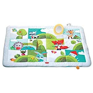 Tiny Love Super Mat Tappeto Gioco per Bambini e Neonati, Grande 150 x 100 cm, Imbottito, 8 Giochi interattivi, Collezione Meadow Days, Multicolore/Bianco