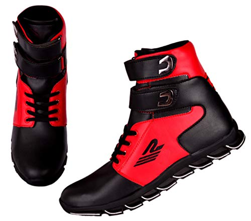 Ryko Mens Red Black Hip-Hop Casual Boot