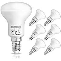 SHINE HAI Lampadine LED E14,4.5W Pari a Lampada 40W,Luce Bianco freddo 6500k,350LM,Confezione da 6