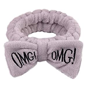 AchidistviQ Nette Frauen Brief Bowknot Plüsch Stirnband Gesicht Waschen Haarband Elastic Headwear