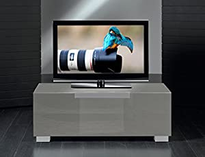 Glass TV Cabinet Model M312 for LCD, LED or Plasma Screens 42,46,47,50,52,55,58,60 inch by SAMSUNG, LG, SONY, PHILIPS, TOSHIBA, PANASONIC, JVC. (Grey Glass)
