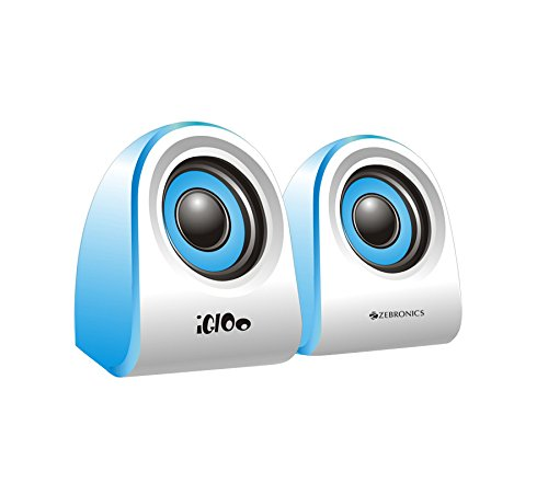 Compium Zebronics Igloo 2.0 Multimedia Speaker (Color May Vary)  available at amazon for Rs.375