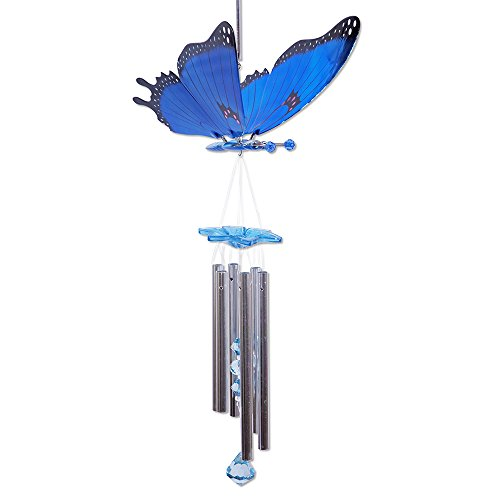 Windywings Papillon Carillon éolien Couleur : bleu