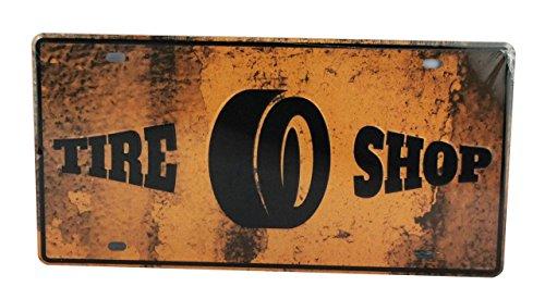 YUDA targhe Decorative, Piastre, 30x 15cm/30x 20cm, Vintage, Americane, Marche da Auto, Paesi, Moto, Decorazione casa, casa Vintage 30x15cm Rimessa di Pneumatici