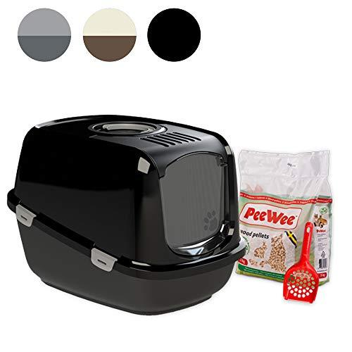 PeeWee EcoDome - Katzentoilette - Starter-Paket Schwarz