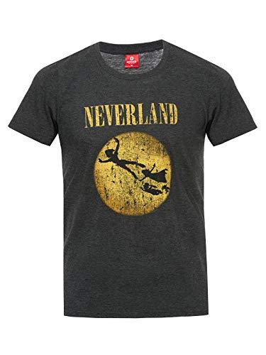 Peter Pan Neverland T-Shirt grau meliert S - Peter Disney Shirt Pan