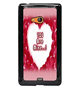 PrintDhaba Heart with Quote D-2254 Back Case Cover for MICROSOFT LUMIA 540 (Multi-Coloured)