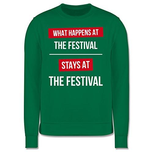 Festival - What happens on the festival stays at the festival - Herren Premium Pullover Grün