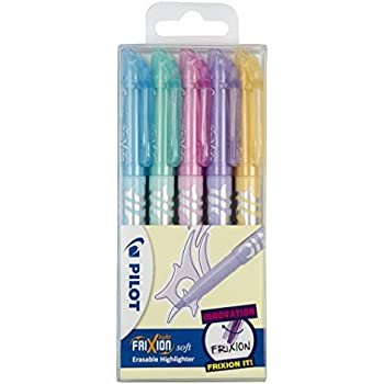 Pilot Frixion Light Surligneur Lot de 5 coloris assortis