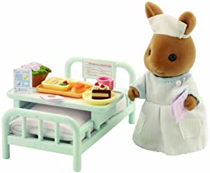 Sylvanian Families Nurse with Hospital Bed